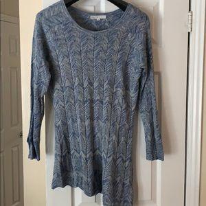 Tops - Blue asymmetrical tunic